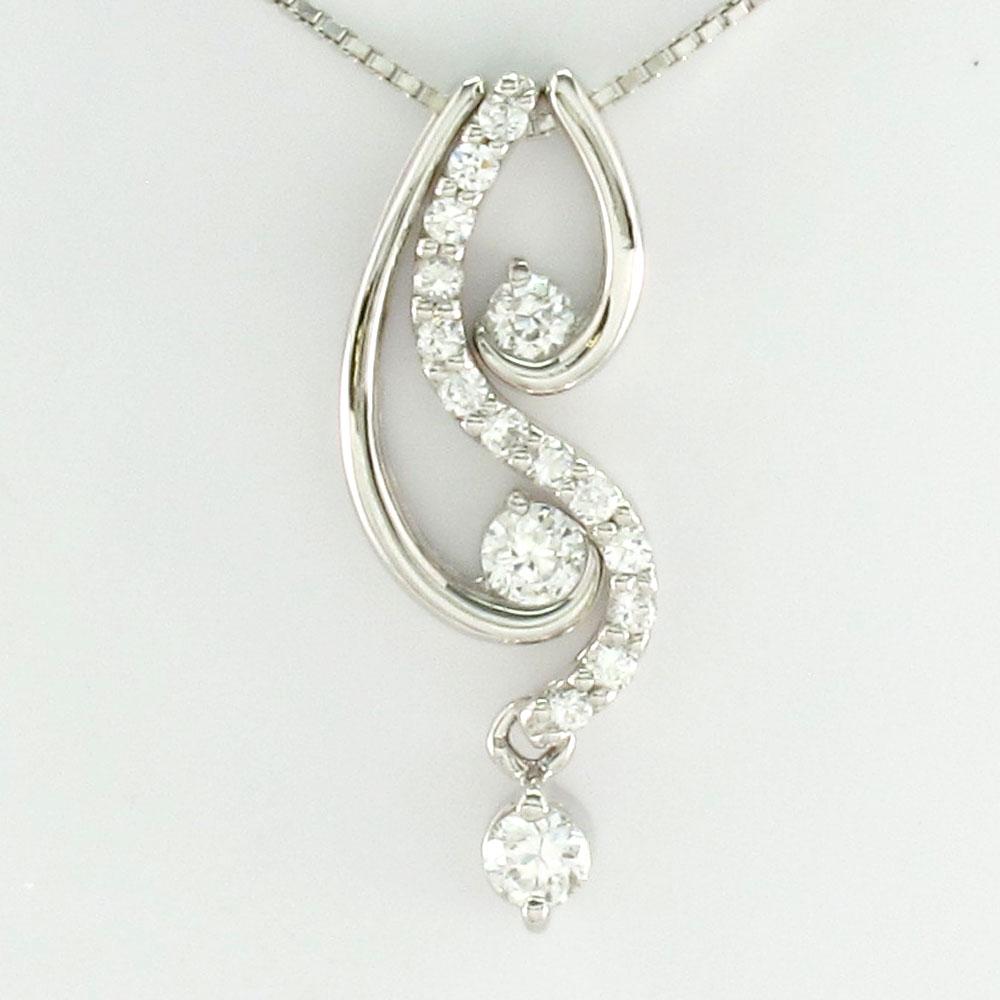 ダイヤモンド ネックレス ペンダント レディース セパレート トリロジー 揺れる ブラ プラチナ pt900