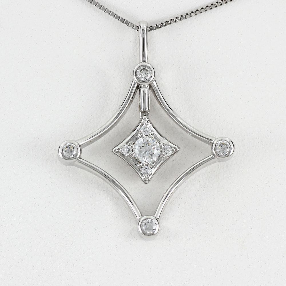 ダイヤモンド ネックレス 18k ペンダント レディース スター 星 揺れる スイング ブラ ゴールド k18 18金