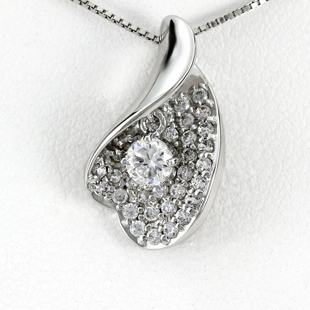 ダイヤモンド ネックレス 一粒 18k ペンダント レディース パヴェ 揺れる スイング ブラ ゴールド k18 18金
