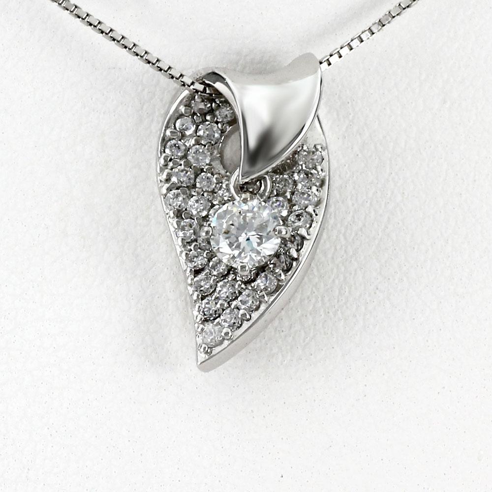 ダイヤモンド ネックレス 一粒 プラチナ ペンダント レディース パヴェ 揺れる スイング ブラ pt900
