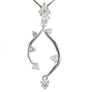 ダイヤモンド ネックレス ペンダント レディース 揺れる ブラ つた 蔦 プラチナ pt900 0.3カラット