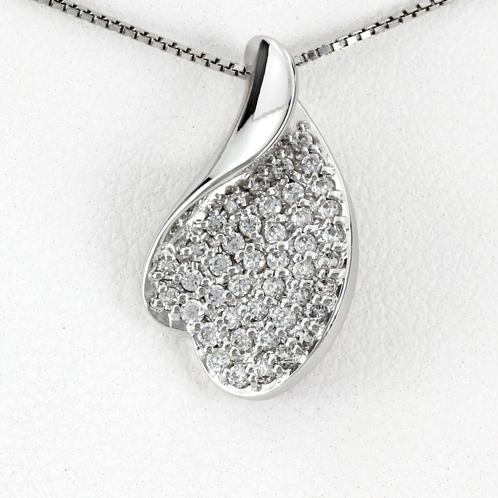ダイヤモンド ネックレス 10k ペンダント レディース パヴェ ゴールド k10 10金