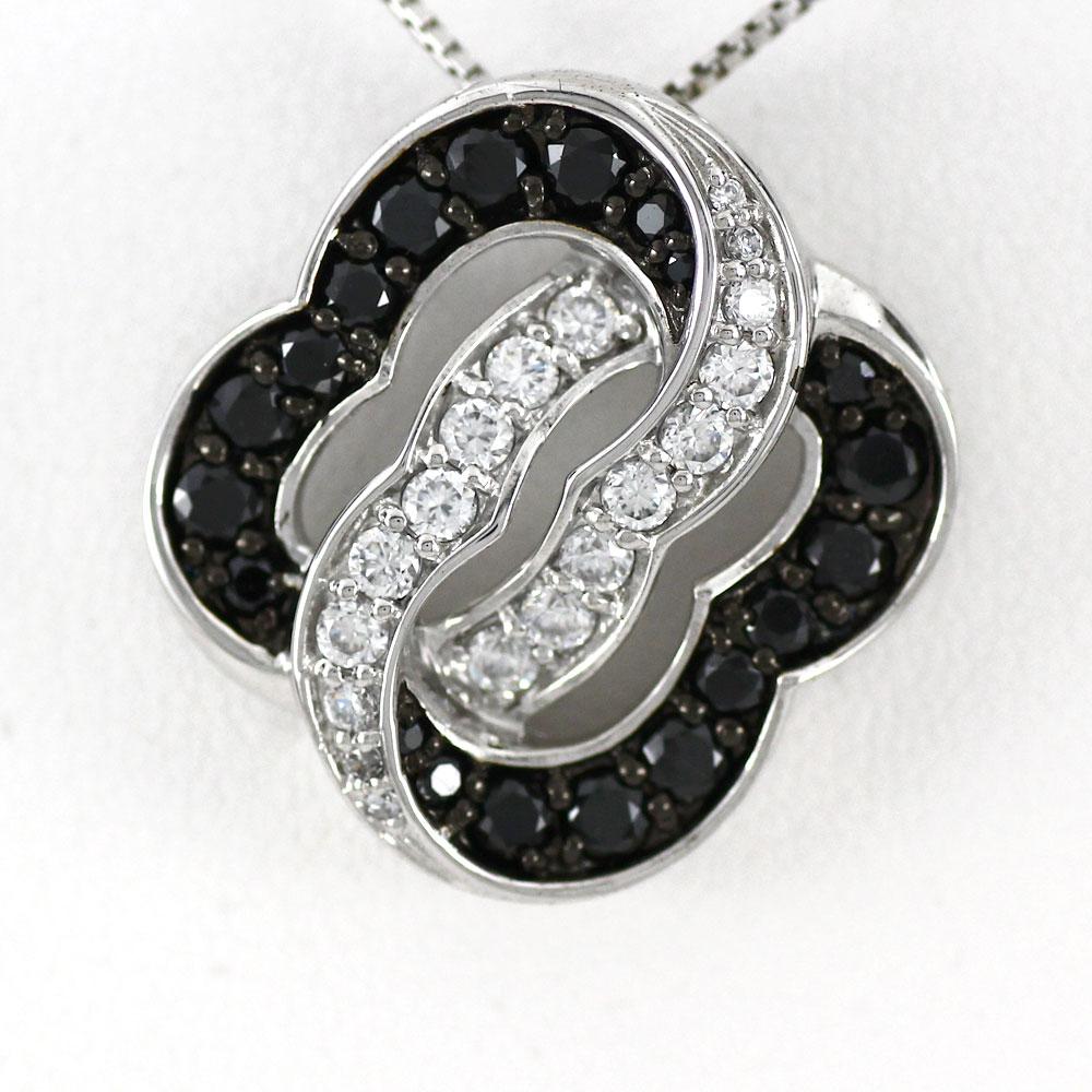 ブラックダイヤモンド ネックレス ペンダント レディース ゴージャス ラグジュアリー プラチナ pt900