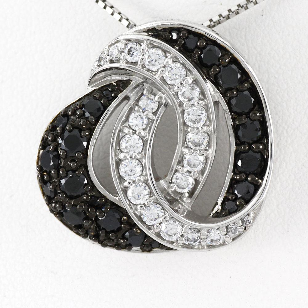 ブラックダイヤモンド ハート ネックレス ダイヤ ペンダント レディース ダイヤモンド ゴージャス ラグジュアリー プラチナ pt900
