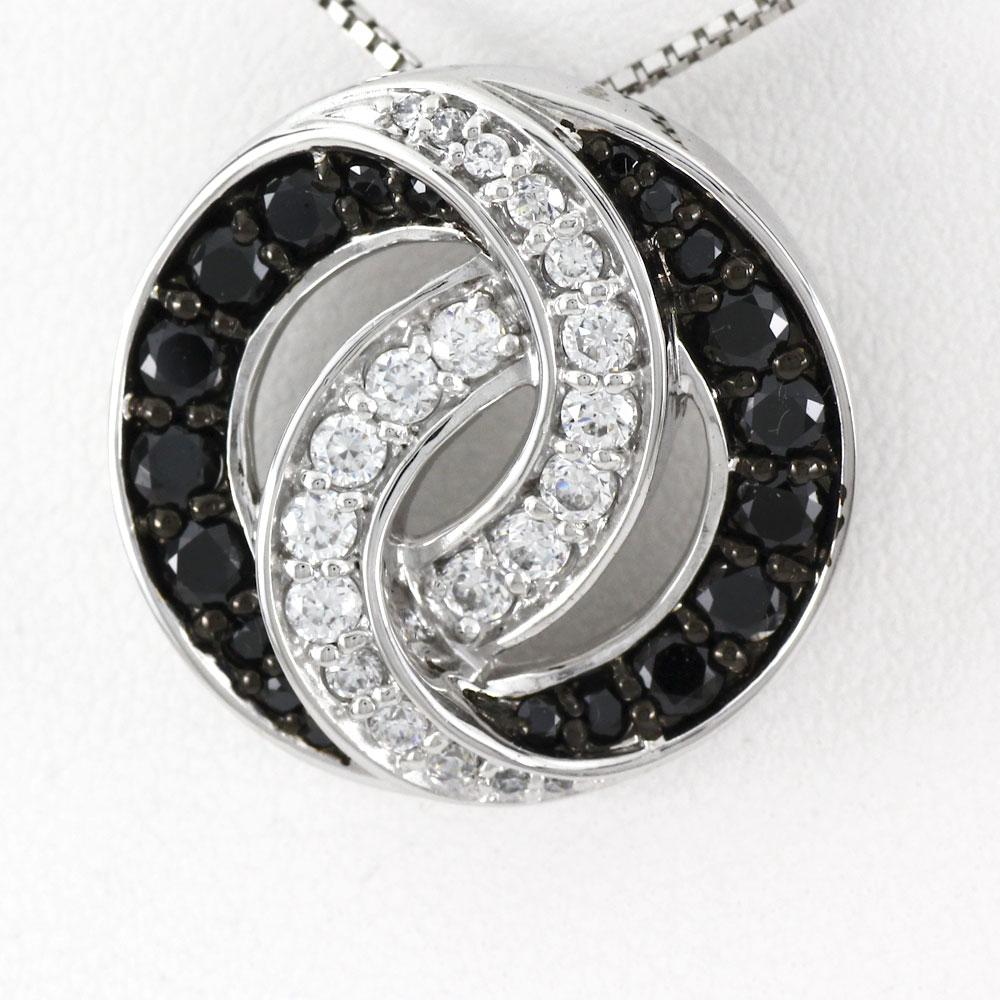 ブラックダイヤモンド ネックレス ペンダント レディース サークル ゴージャス ラグジュアリー プラチナ pt900