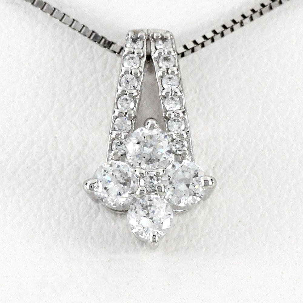 ダイヤモンド ネックレス 18k ペンダント レディース フラワー 花 ゴールド k18 18金