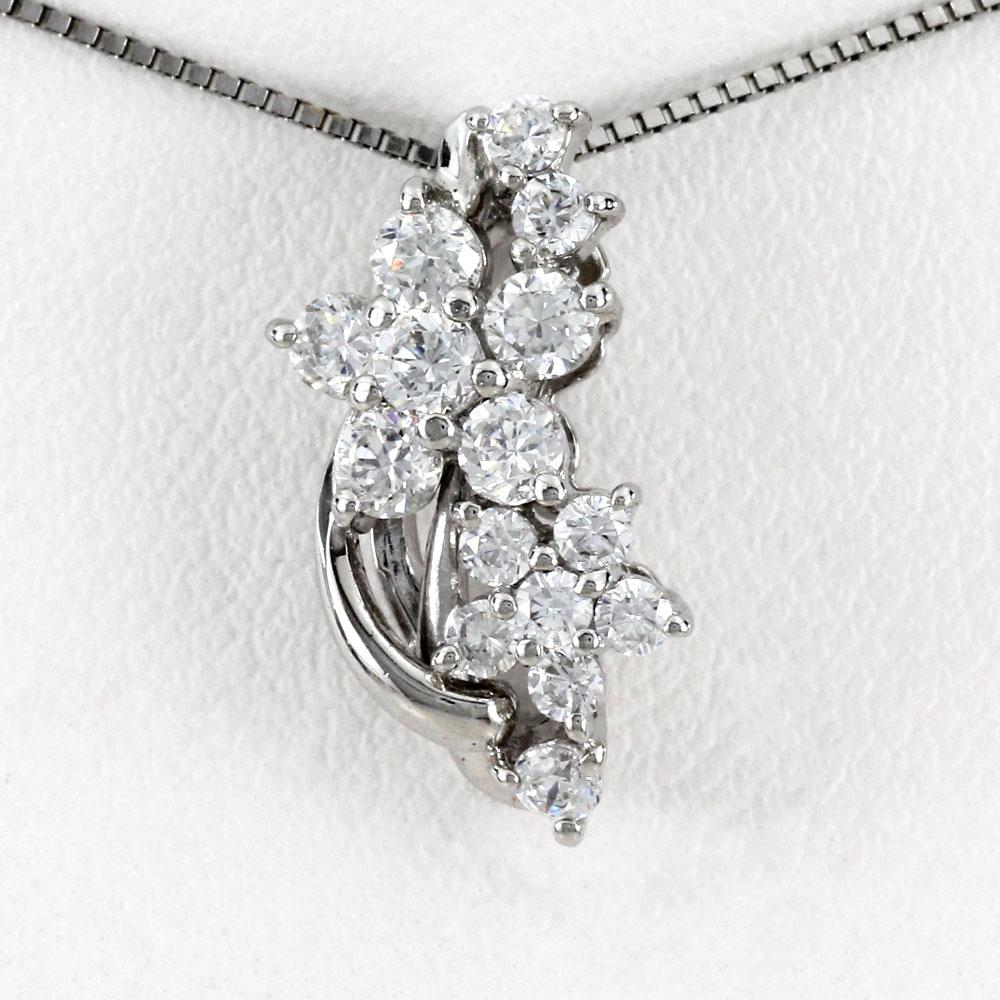 ダイヤモンド ネックレス ペンダント レディース フラワー 花 プラチナ pt900