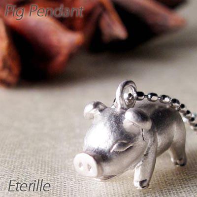 ダイヤモンド ネックレス ペンダント レディース 豚 ぶた ピッグ アニマル 地金 プラチナ pt900