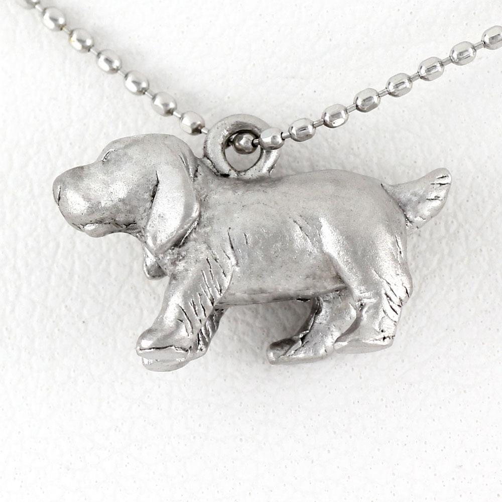 ダイヤモンド ネックレス ペンダント レディース 犬 いぬ ドッグ ビーグル プラチナ アニマル 無垢 地金 pt900