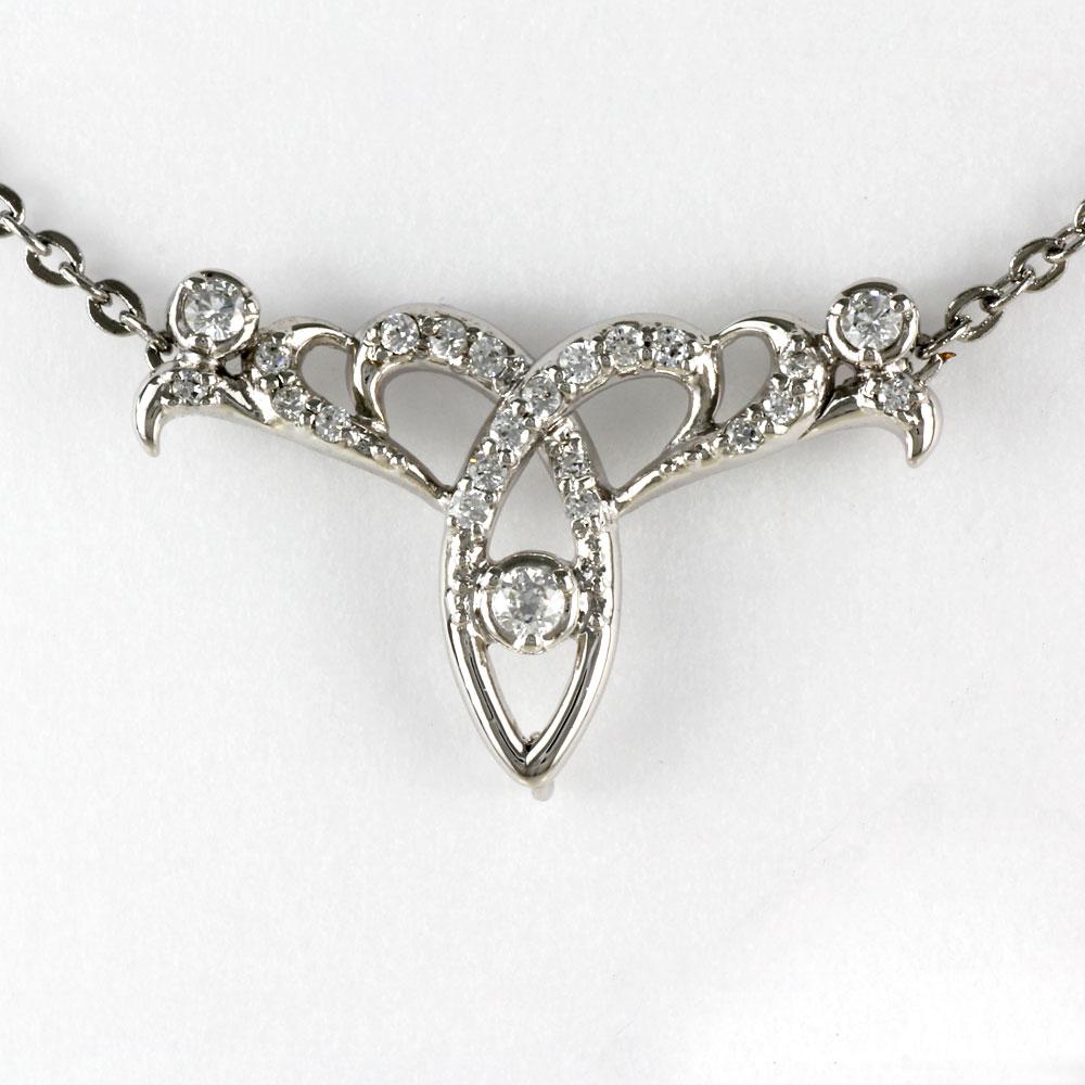 ダイヤモンド ネックレス ペンダント レディース アンティーク プラチナ 透かし ミル pt900