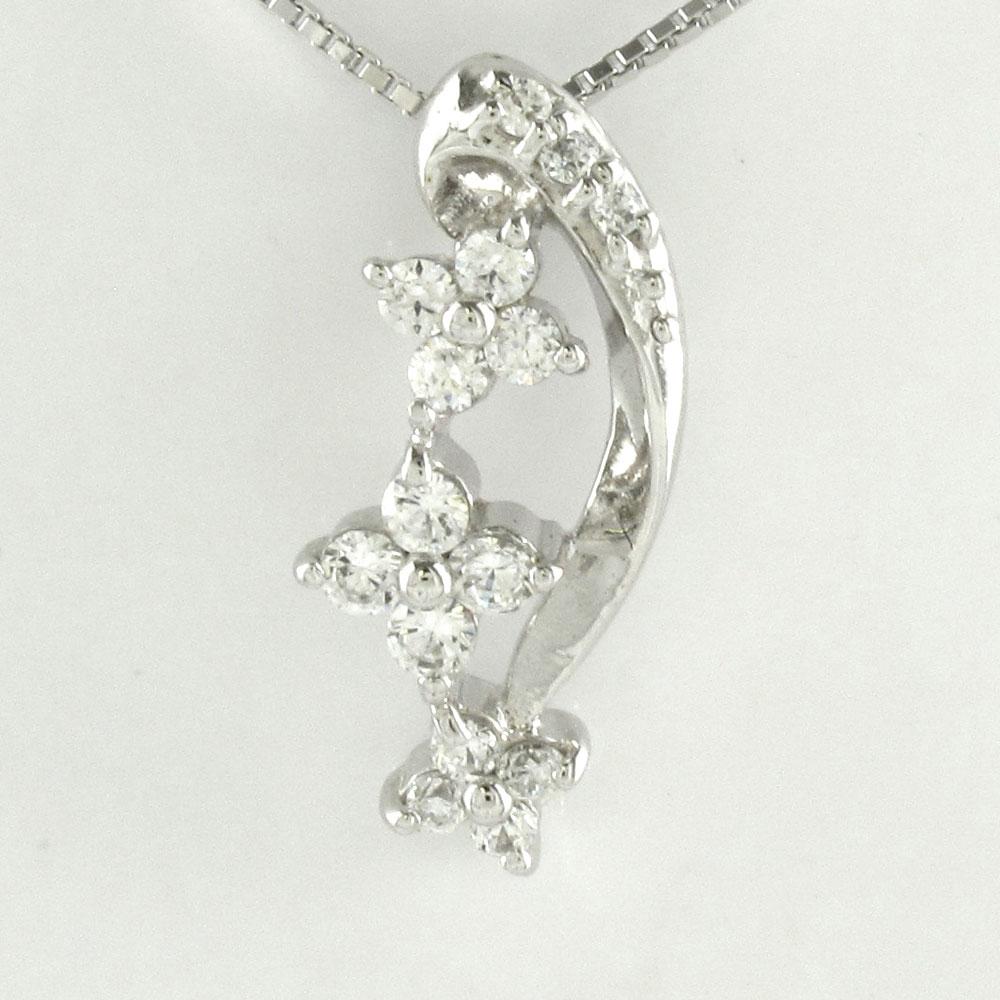 ダイヤモンド ネックレス ペンダント レディース プラチナ フラワー 花 pt900