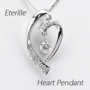 ハート ネックレス ダイヤ ペンダント レディース ダイヤモンド ブラ 揺れる プラチナ pt900