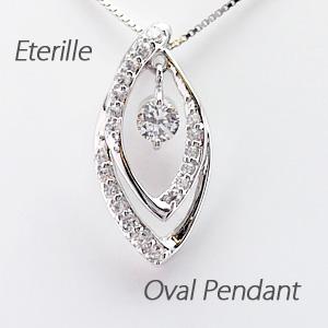ダイヤモンド ネックレス ペンダント レディース 揺れる ブラ スイング マーキス プラチナ pt900