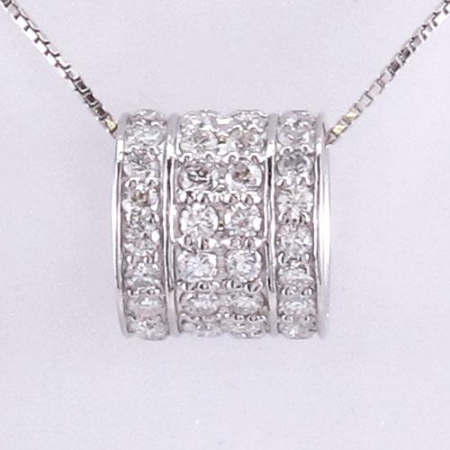 ダイヤモンド ネックレス ペンダント レディース サークル アンティーク プラチナ pt900