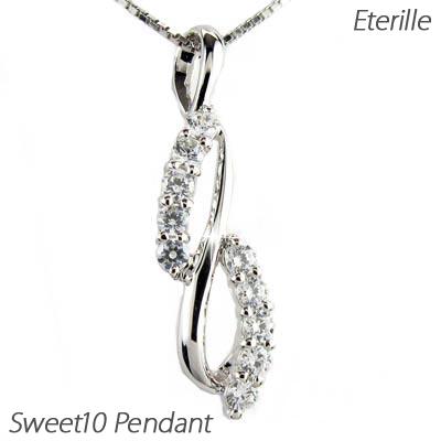 ダイヤモンド ネックレス ペンダント レディース スイート 10 テン 0.2カラット プラチナ pt900