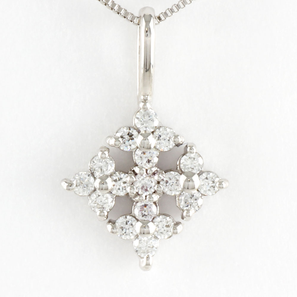 ダイヤモンド ネックレス ペンダント レディース プラチナ スノークリスタル pt900