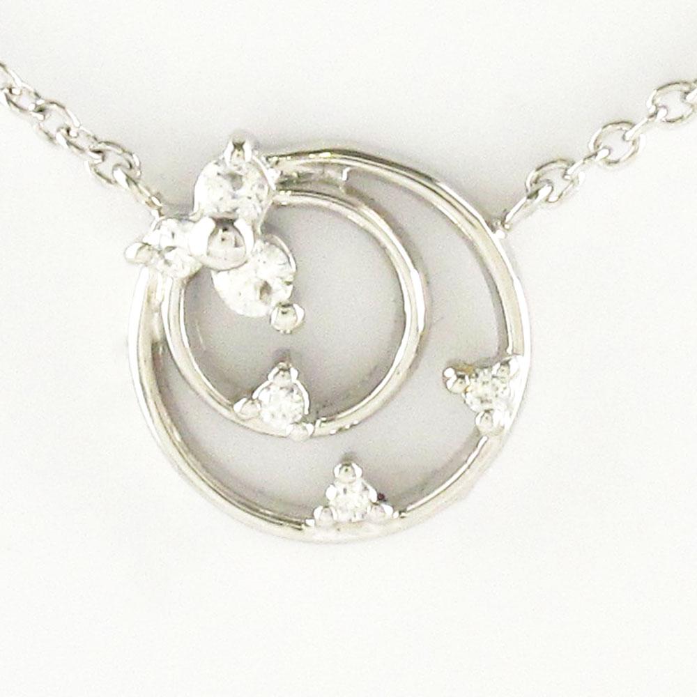 ダイヤモンド ネックレス ペンダント レディース プラチナ サークル シンプル プチ pt900