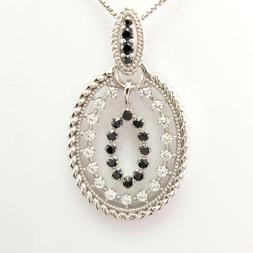 ダイヤモンド ネックレス ペンダント レディース アンティーク ミル なわ プラチナ pt900 オーバル ゴージャス