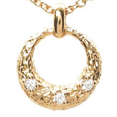 ダイヤモンド ネックレス 18k ペンダント レディース ムーン 月型 ゴールド k18 18金