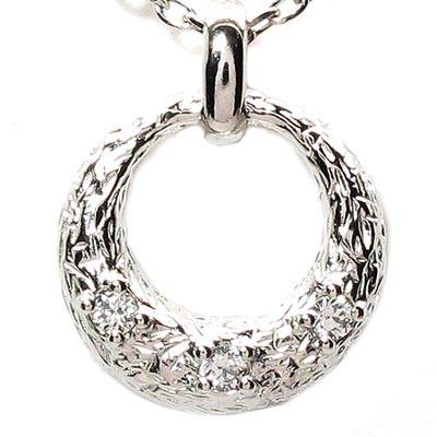 ダイヤモンド ネックレス ペンダント レディース ムーン 月型 プラチナ pt900