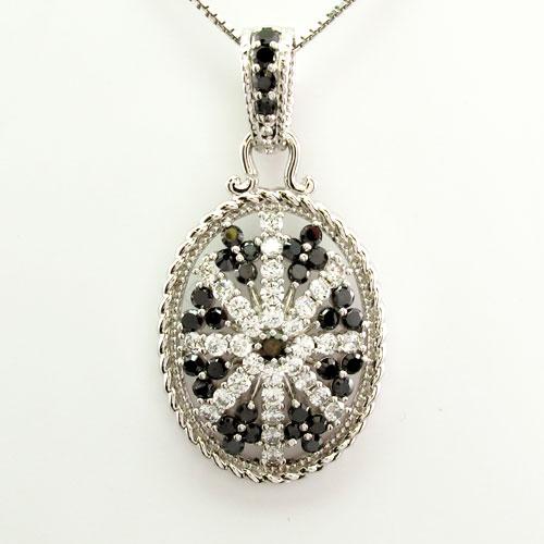 ダイヤモンド ネックレス ペンダント レディース アンティーク ミル なわ プラチナ pt900 オーバル サークル ゴージャス