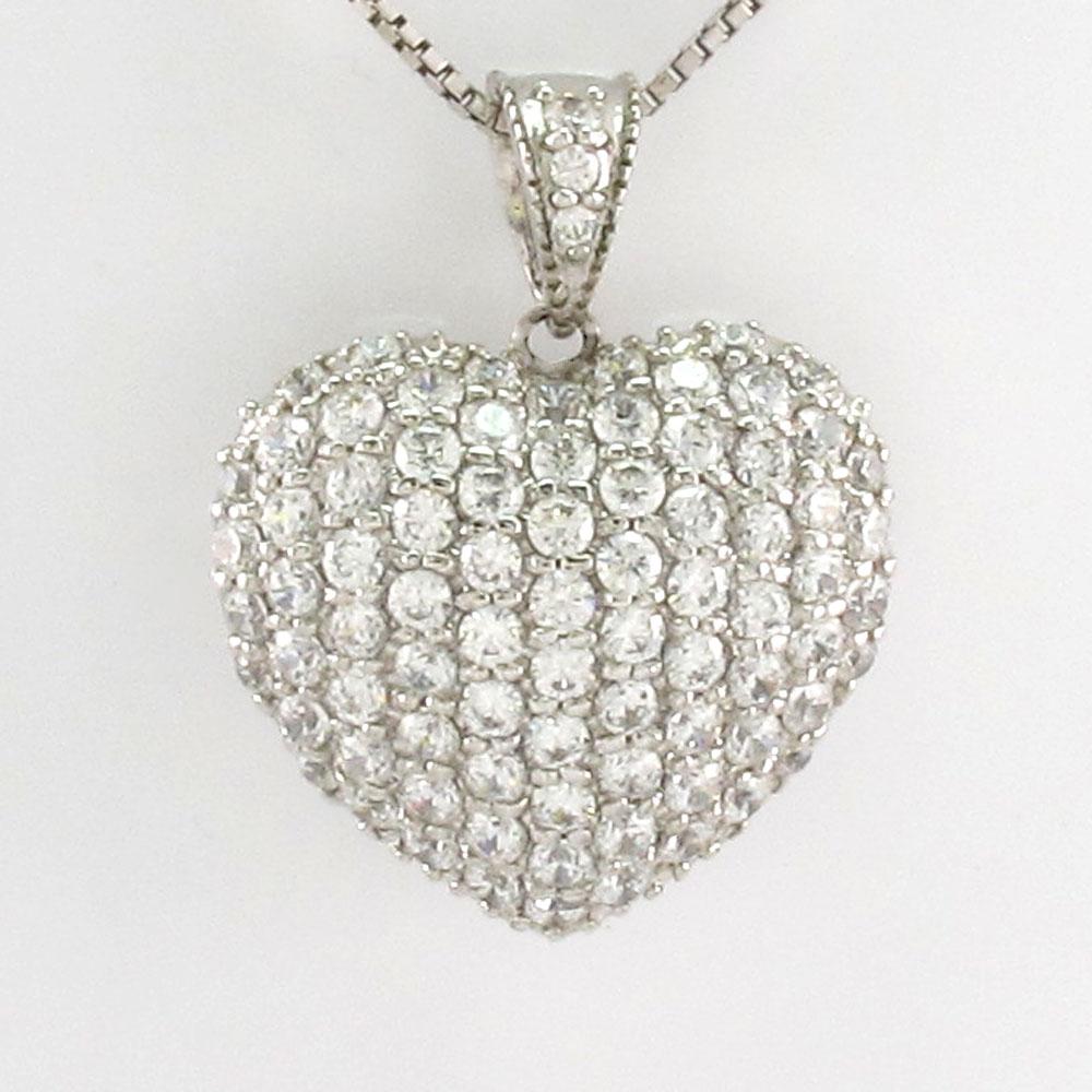 ハート ネックレス ダイヤ ペンダント レディース ダイヤモンド パヴェ ゴージャス 1.5カラット ゴールド k18 18k 18金