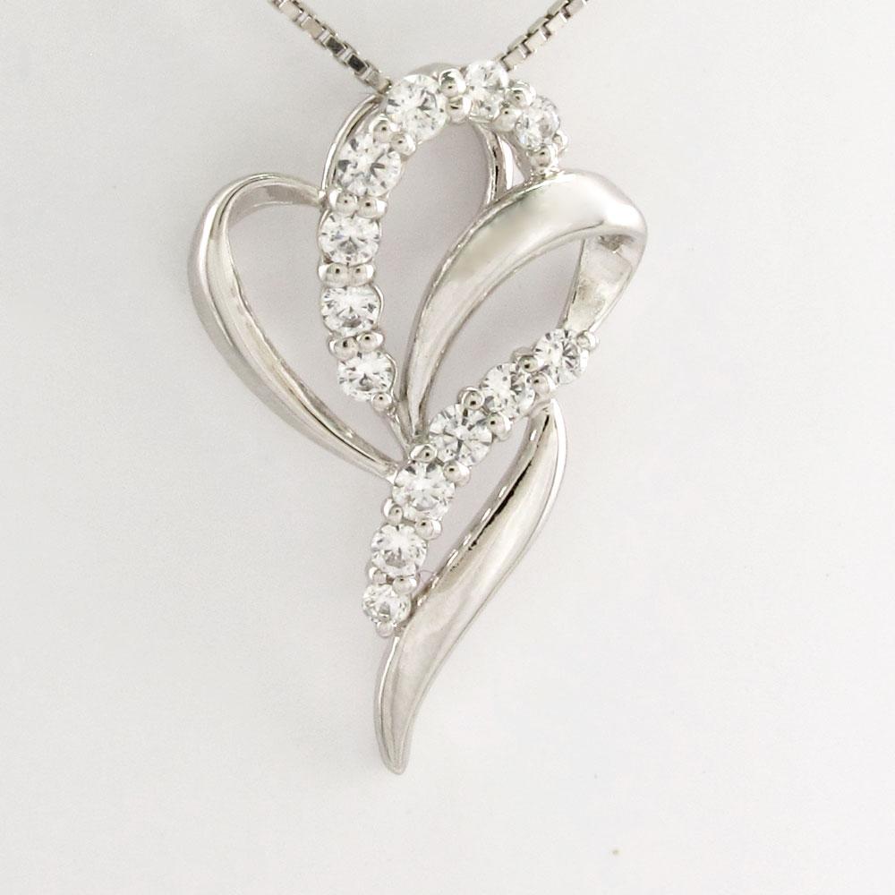 ダイヤモンド ネックレス 18k ペンダント レディース カーブ エレガント ゴールド k18 18金