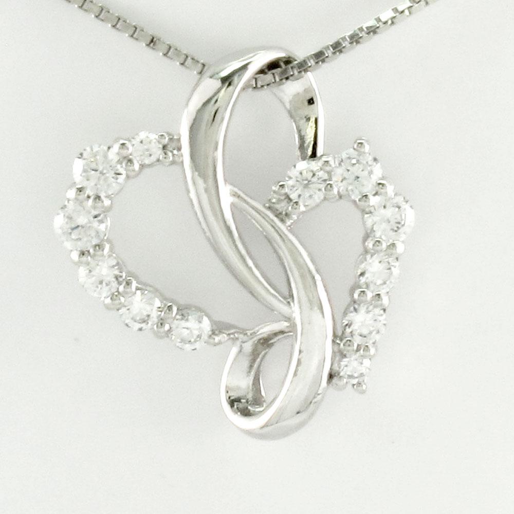 ハート ネックレス ダイヤ ペンダント レディース ダイヤモンドモチーフ プラチナ pt900