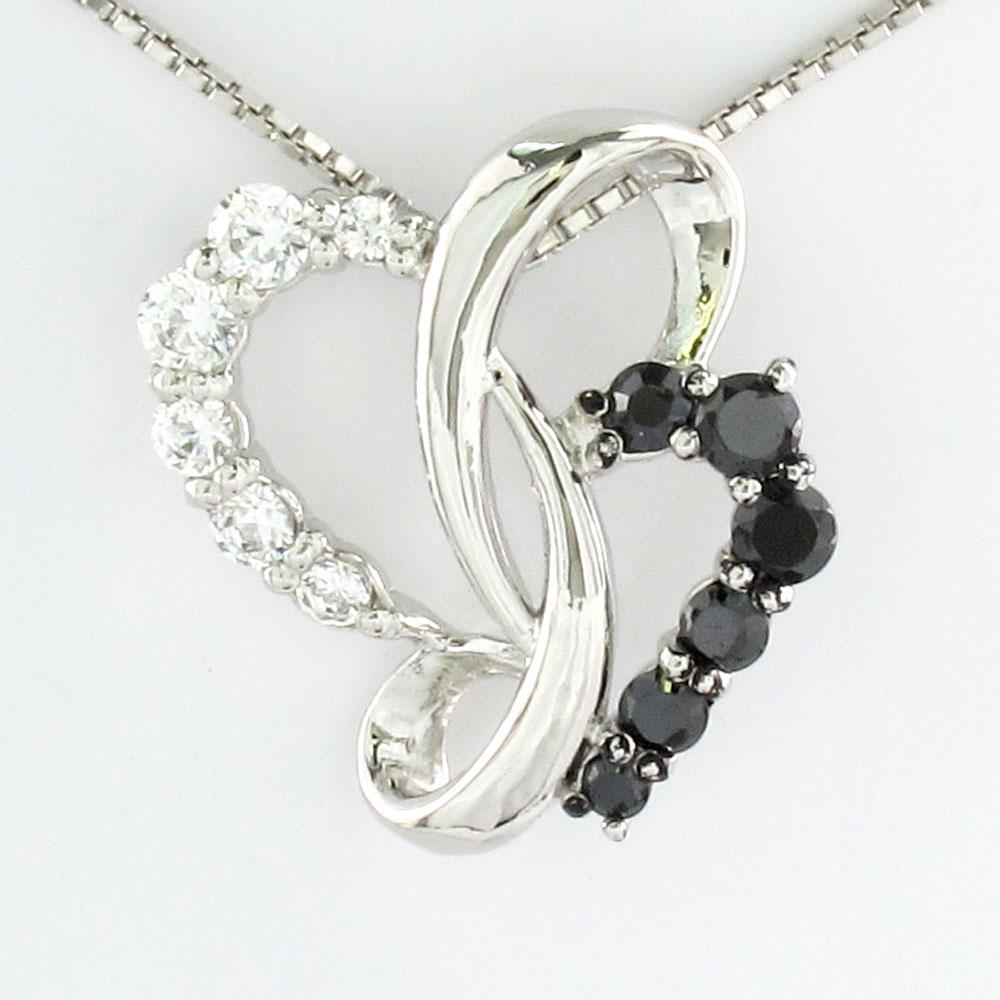ブラックダイヤモンド ハート ネックレス ダイヤ ペンダント レディース ダイヤモンドモチーフ ゴールド k10 10k 10金XiukPZ