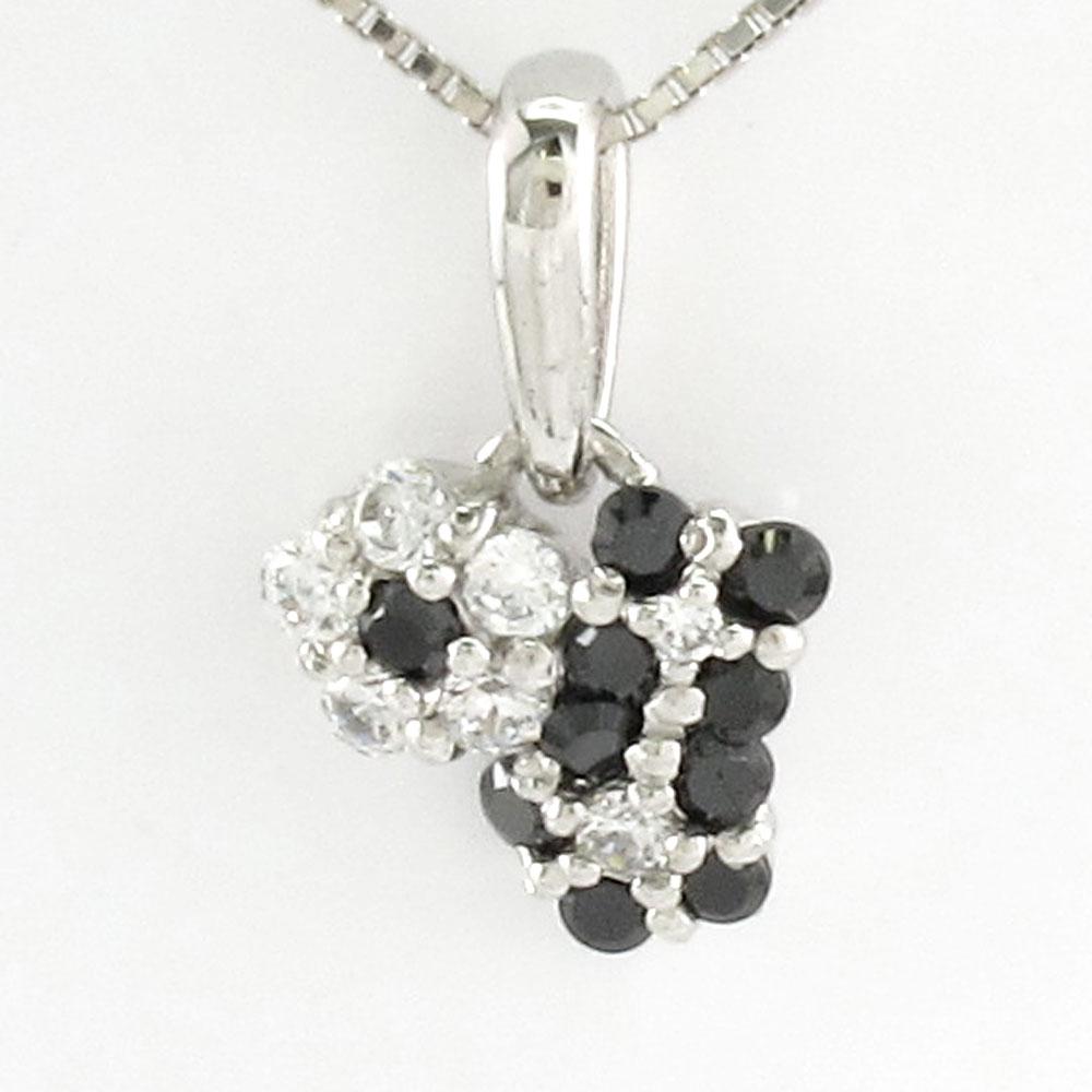 ブラックダイヤモンド ネックレス ペンダント レディース フラワー 花 プラチナ pt900