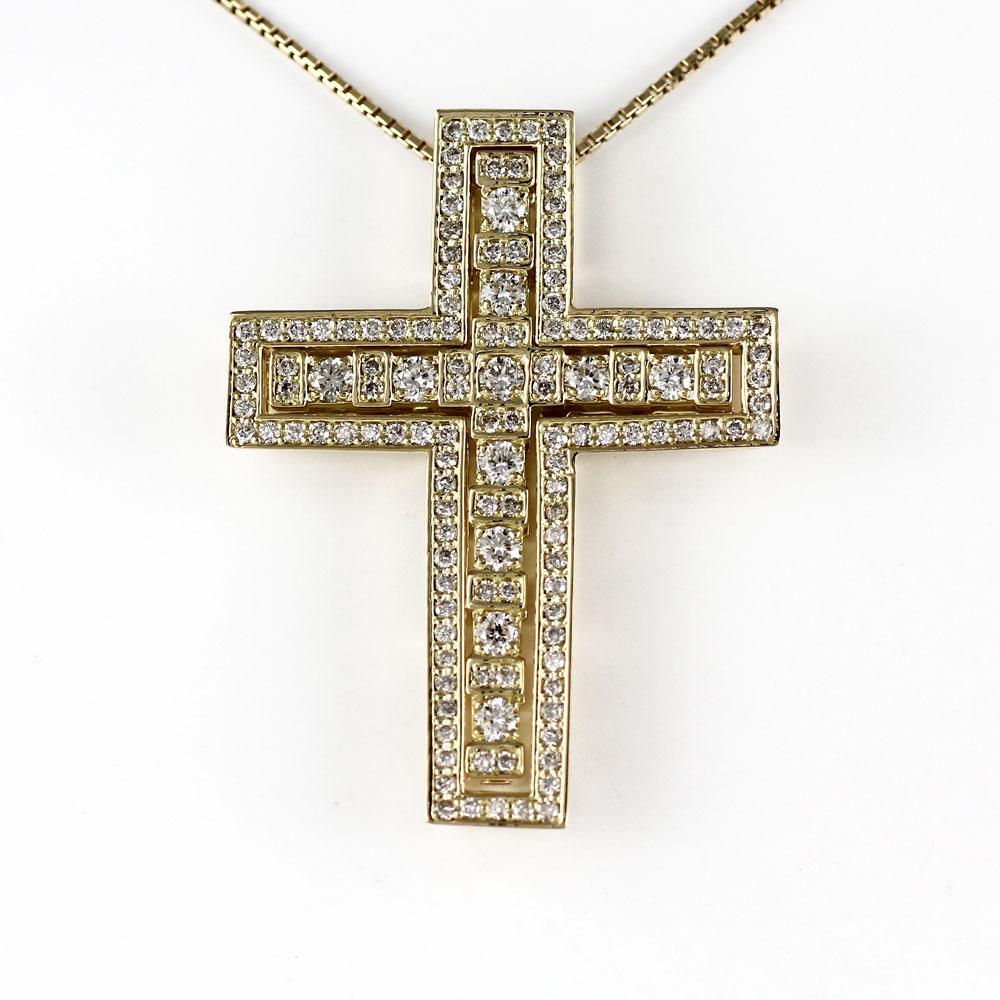 大きい割引 ネックレス ネックレス メンズ クロス k18 ダイヤモンド 十字架 ゴージャス アンティーク ゴールド 18金 k18 18k 18金, ミツギチョウ:dc1dc2e1 --- newplan.com