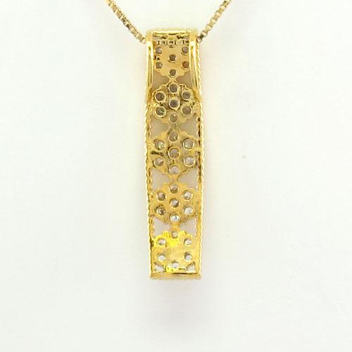 ダイヤモンド ネックレス 18k ペンダント レディース フラワー 花 ミル アンティーク グラデーション 0 3カラット ゴールド k18 18金tQdhrCsx