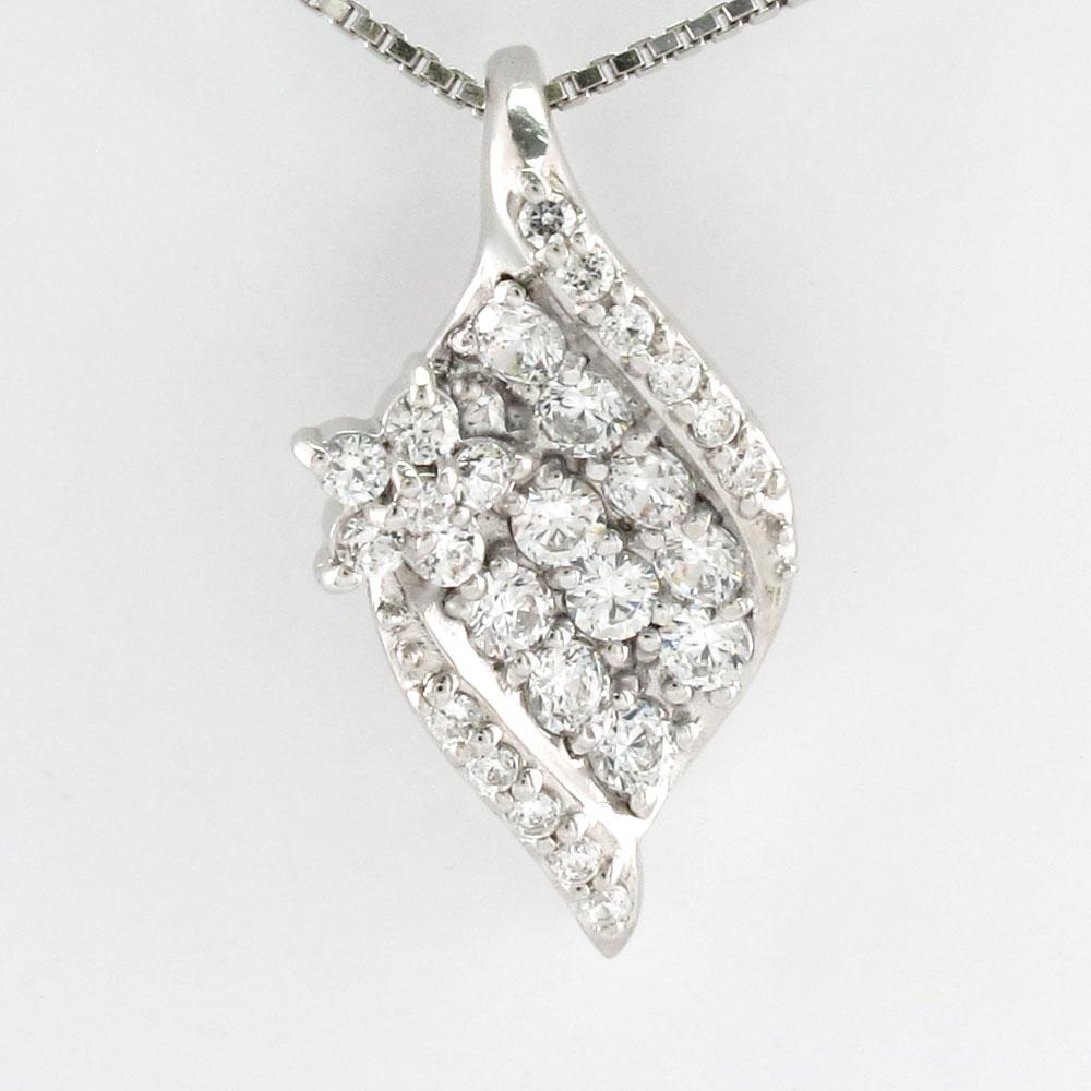 ダイヤモンド ネックレス ペンダント レディース パヴェ フラワー 花 プラチナ pt900