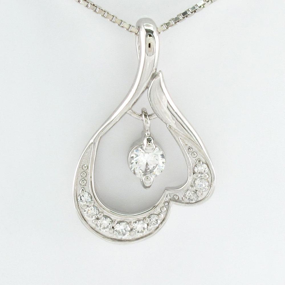 ダイヤモンド ネックレス ペンダント レディース ブラ 揺れる プラチナ pt900