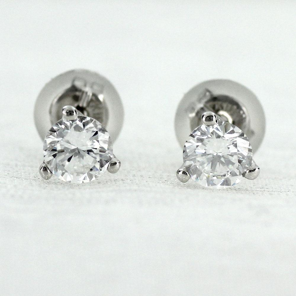 ダイヤモンド ピアス プラチナ レディース 一粒ダイヤ 0.5カラット スタッド シンプル プラチナ pt900