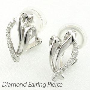 ダイヤ イヤリング ピアス ダイヤモンド レディース シンプル エレガント 地金 プラチナ pt900 0.2カラット