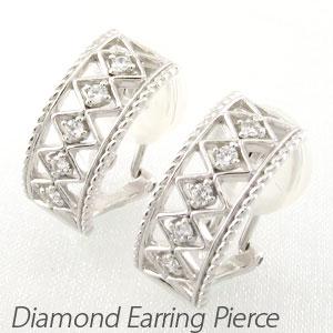 ダイヤ イヤリング ピアス ダイヤモンド レディース アンティーク 透かし プラチナ pt900