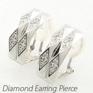 ダイヤ イヤリング ピアス ダイヤモンド レディース ひし形 多面 プラチナ pt900
