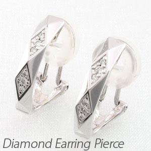 ダイヤ イヤリング ピアス ダイヤモンド レディース ひし形 多面 18金 18k k18 ゴールド