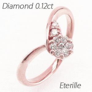 ダイヤモンド リング 指輪 レディース V字 Vライン カーブ ミステリー k18 18k 18金 ゴールド
