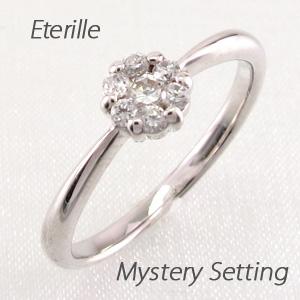 ダイヤモンド リング 指輪 レディース ミステリー セブンスター フラワー 花 シンプル プラチナ