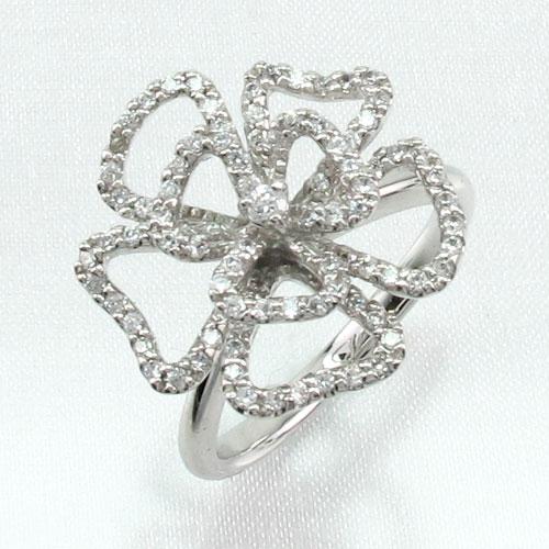 ダイヤモンド リング 指輪 レディース フラワー 花 ゴージャス k18 18k 18金 ゴールド 0.5カラット