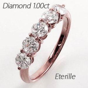 ダイヤモンド エタニティリング レディース ダイヤ 指輪 ハーフエタニティ 豪華 ゴールド k18 18k 18金 1.0カラット