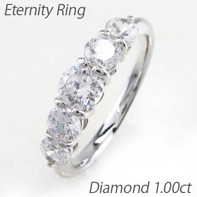 ダイヤモンド エタニティリング レディース ダイヤ 指輪 ハーフエタニティ グラデーション 豪華 ゴールド K10 10k 10金 1.0カラット