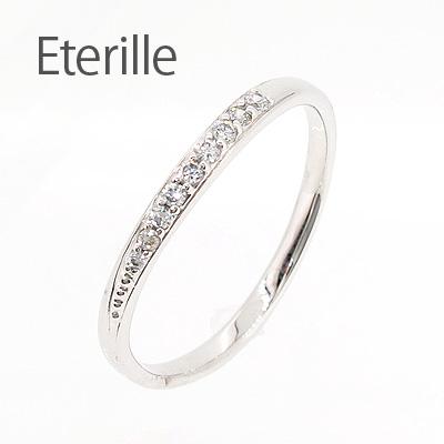 ダイヤモンド リング 指輪 レディース シンプル カーブ ウェーブ プラチナ