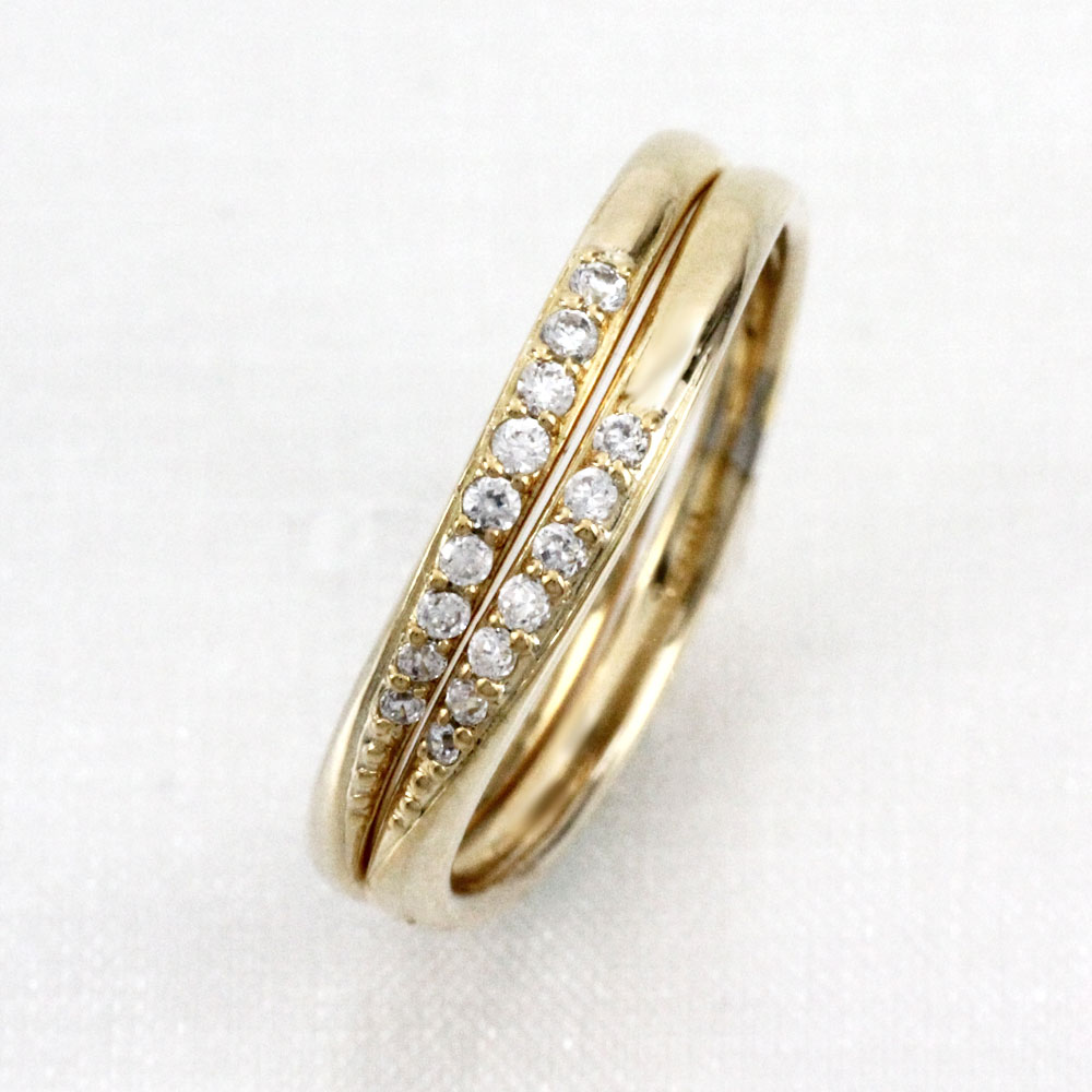 ダイヤモンド リング 指輪 レディース ミステリー ブラ スイング 揺れる V字 k18 18k 18金 ゴールド 0.2カラット