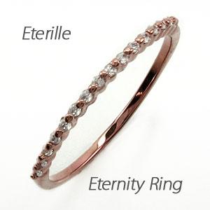エタニティリング ダイヤモンド レディース ダイヤ 指輪 ハーフエタニティ 重ねづけ 華奢 ゴールド k18 18k 18金