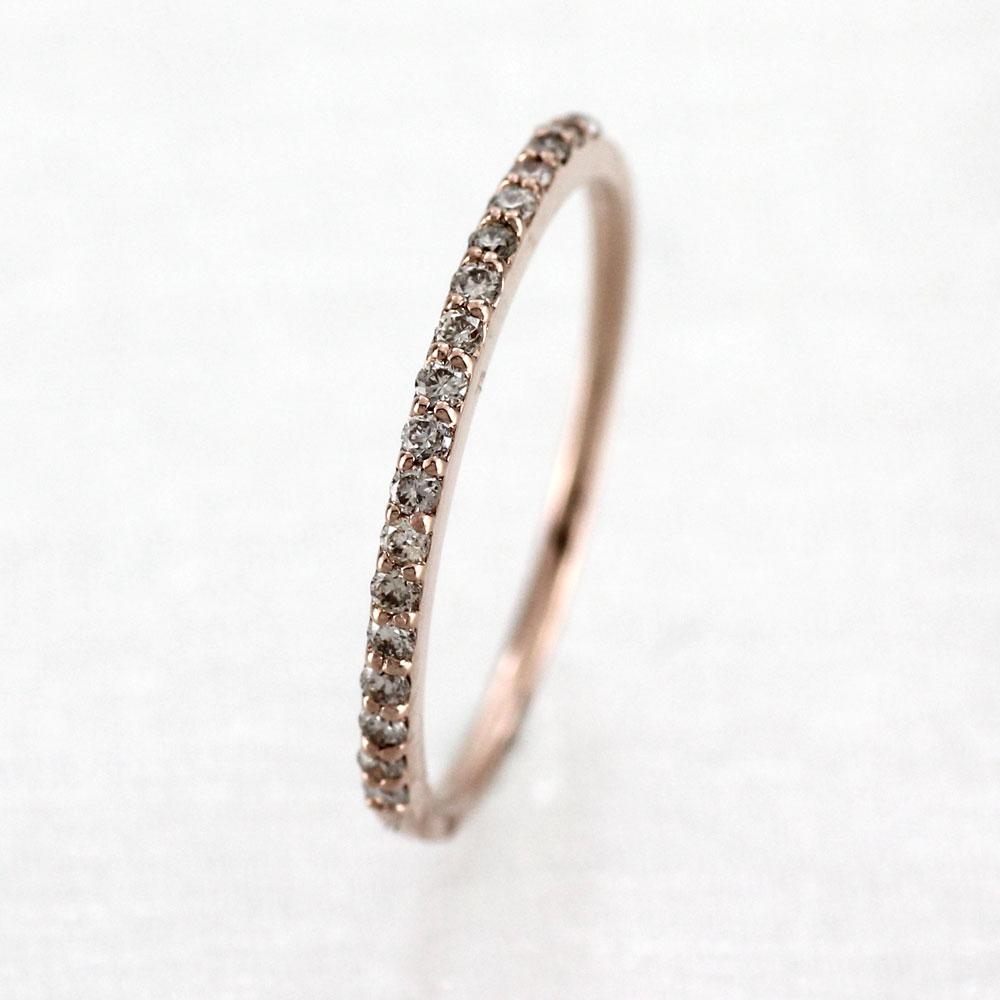 ピンキーリング ダイヤモンド ダイヤ k18 18k レディース 指輪 エタニティ ハーフエタニティ ファランジ 重ねづけ 華奢 18金 ゴールド