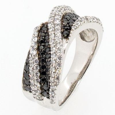 ブラックダイヤモンド リング 指輪 メンズ ダイヤモンド パヴェ ウェーブ コンビ プラチナ pt900