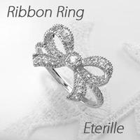 ダイヤモンド リング 指輪 レディース リボン アンティーク プラチナ